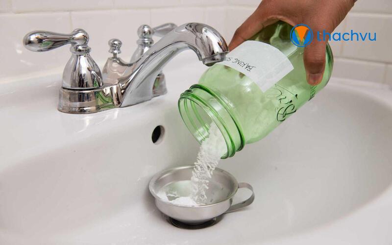 Làm sạch bồn rửa mặt