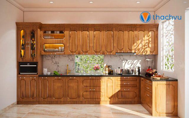 Mẫu nhà bếp bằng gỗ