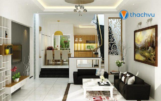 Phòng khách và phòng bếp liên thông